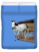 Horsing Around Duvet Cover by Shane Bechler