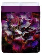 Colorful Hortensia Closeup Duvet Cover