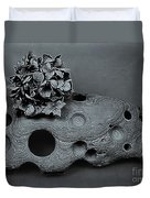Hortensia Stone Circle Of Life Bw Duvet Cover