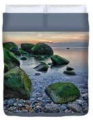 Horton Point Ny At Sunset Duvet Cover