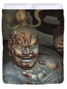 Horyu-ji Temple Gate Guardian - Nara Japan Duvet Cover