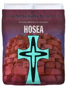 Hosea Books Of The Bible Series Old Testament Minimal Poster Art Number 28 Duvet Cover