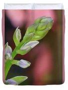 Hosta Blooming Duvet Cover