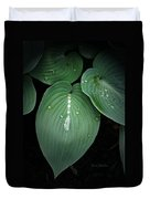 Hostas After The Rain Duvet Cover