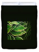 Hostas And Grass Painting Duvet Cover