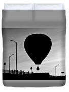Hot Air Balloon Bridge Crossing Duvet Cover