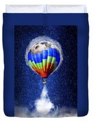 Hot Air Balloon / Digital Art Duvet Cover