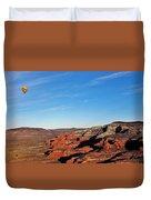 Hot Air Balloon Flight 011914iii Duvet Cover