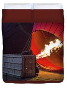 Hot Air Balloon. Inflation. Duvet Cover