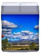 Hot Air Balloon Ride In Orange County Duvet Cover