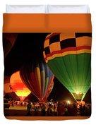 Hot Air Balloons At Night October 28, 2017 #2 Duvet Cover
