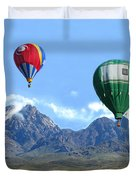 Hot Air Over The Organ Mountains Duvet Cover