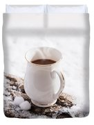 Hot Chocolate Drink Duvet Cover