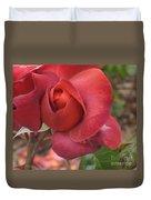 Hot Cocoa Rose Duvet Cover