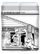 Hot Dog Factory Duvet Cover