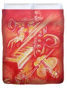 Hot Jazz Duvet Cover