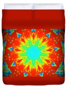 Hot Kaleidoscope Flower Duvet Cover
