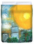 Hot Miami Sky Duvet Cover