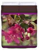 Hot Pink Blossoms Duvet Cover