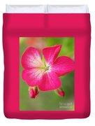 Hot Pink Geranium On A Brilliant Summer Day Duvet Cover