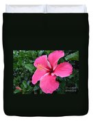 Hot Pink Hibiscus 1 Duvet Cover