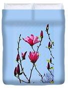 Hot Pink Magnolias Duvet Cover