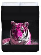Hot Pink Tiger Duvet Cover
