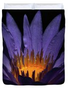 Hot Purple Water Lily Duvet Cover
