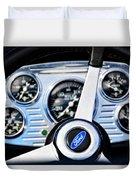 Hot Rod Ford Steering Wheel Duvet Cover