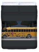 Hot Rod School Bus Duvet Cover by Mike McGlothlen