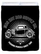 Hot Rod Shop Shirt Duvet Cover