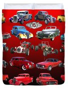 Car Show And Shine Poster Duvet Cover