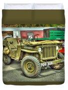 Hotchkiss Jeep Duvet Cover