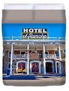 Hotel El Rancho Duvet Cover