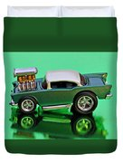 hotwheels blown 57 Chevy Duvet Cover