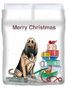 Hounddog Christmas Duvet Cover