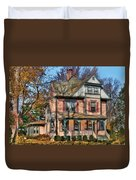 House - I Want That Big Pink House Duvet Cover by Mike Savad