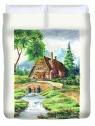 House Along The River Duvet Cover