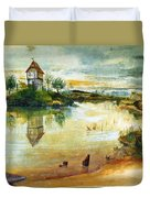House By A Pond Duvet Cover