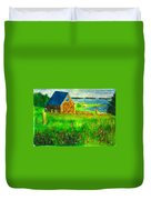 House By The Field Duvet Cover