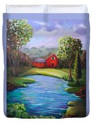 House By The Lake Duvet Cover
