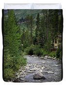 House By The Stream In Vail 1 Duvet Cover