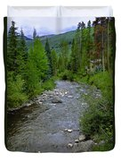 House By The Stream In Vail 2 Duvet Cover