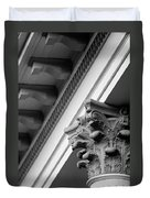 House Column Black And White Duvet Cover