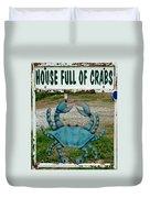 House  Full Of Crabs Duvet Cover