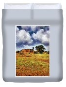 House In A Desert Land Duvet Cover