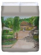House In Goa Duvet Cover