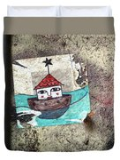 House In The Sea Duvet Cover