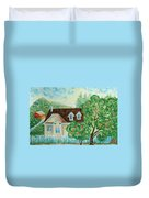 House In The Village Duvet Cover