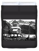 House Of Stilts Bw Duvet Cover